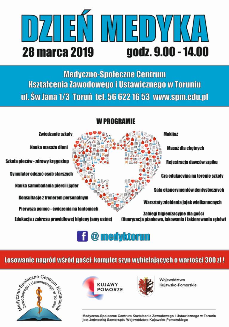 Ulotka informacyjna: Dzień Medyka 2019